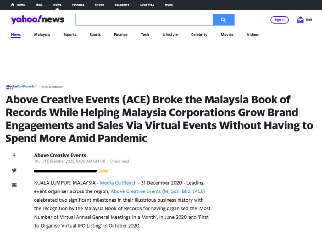 ACE on Yahoo!News